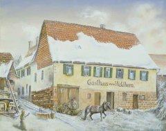 Das Gasthaus Waldhorn am Pfarrberg. Früher Treffpunkt für Jung und Alt.